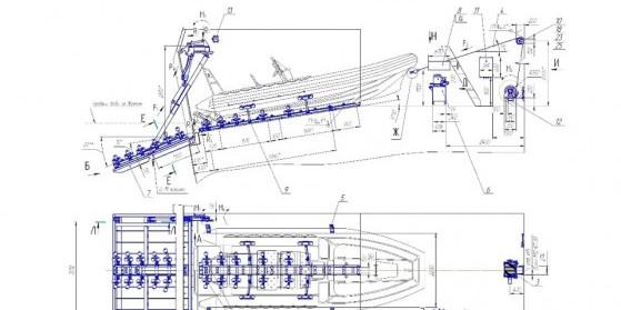 Принципиальная схема аппарельно-слипового комплекса